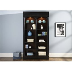 Liberty Furniture St. Ives 6 Shelf Bunching Bookcase in Chocolate