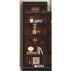 St. Ives Executive Bookcase in Chocolate and Cherry