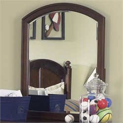Liberty Furniture Abbott Ridge Mirror in Cinnamon