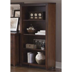 Liberty Furniture Leyton I 4 Shelf Bookcase in Tobacco