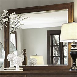 Liberty Furniture Hearthstone Mirror in Rustic Oak