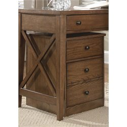 Liberty Furniture Hearthstone 2 Drawer Mobile File Cabinet in Oak