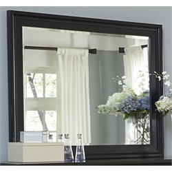 Liberty Furniture Hamilton III Landscape Mirror in Black