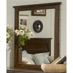 Liberty Furniture Laurel Creek Landscape Mirror in Cinnamon