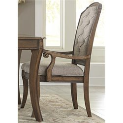 Liberty Furniture Amelia Upholstered Dining Arm Chair in Toffee
