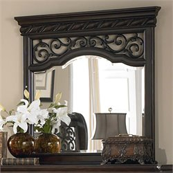 Liberty Furniture Arbor Place Landscape Mirror in Brownstone