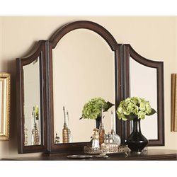 Liberty Furniture Arbor Place Tri View Vanity Mirror in Brownstone