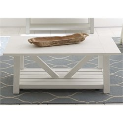 Liberty Furniture Summer House Coffee Table in Oyster White