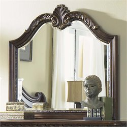 Liberty Furniture Highland Court Landscape Mirror in Rich Cognac