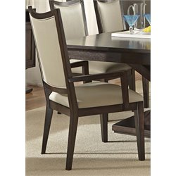 Liberty Furniture Southpark Upholstered Dining Arm Chair in Charcoal