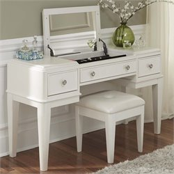 Stardust Bedroom Vanity in Iridescent White