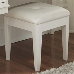 Liberty Furniture Stardust Vanity Bench in Iridescent White