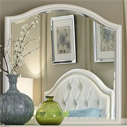 Liberty Furniture Stardust Mirror in Iridescent White
