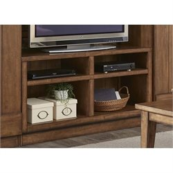 Liberty Furniture Lancaster II TV Stand in Antique Brown