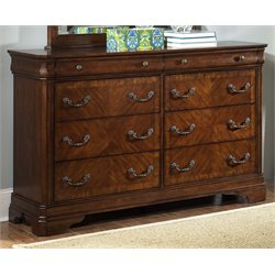 Alexandria 8 Drawer Dresser in Autumn Brown