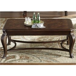Liberty Furniture Ellington Coffee Table in Distressed Cherry