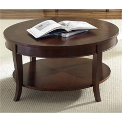 Liberty Furniture Bradshaw Round Coffee Table in Rich Cherry