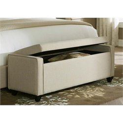 Liberty Furniture Linen Upholstered Bedroom Bench in Natural