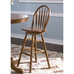 Nostalgia Arrow Back Bar Stool in Medium Oak