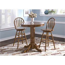 Liberty Furniture Nostalgia 5 Piece Pub Set in Medium Oak