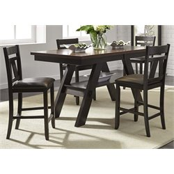 Lawson Counter Height Dining Set in Light and Dark Espresso