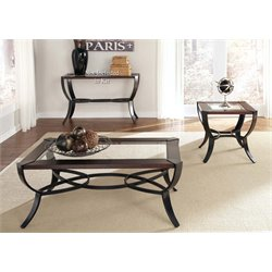 Liberty Furniture Skylights 3 Piece Glass Top Coffee Table Set