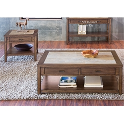 Liberty Furniture Mesa Valley 3 Piece Coffee Table Set in Tobacco