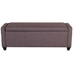 Liberty Furniture Bedroom Bench in Dark Gray Linen Fabric