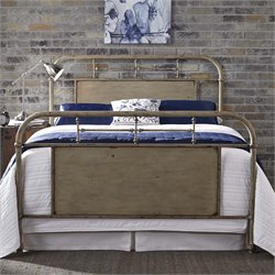 Vintage Metal Bed in Distressed White