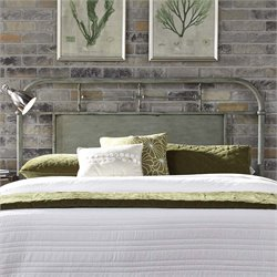 Vintage Metal Headboard in Distressed Green