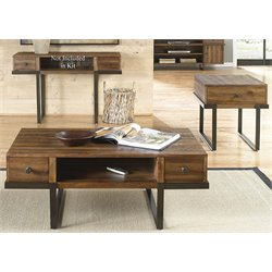 Liberty Furniture Paxton 3 Piece Coffee Table Set in Brushed Bronze