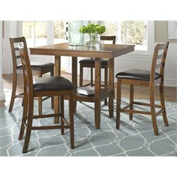 Liberty Furniture Tucson II 5 Piece Counter Height Dining Set in Oak