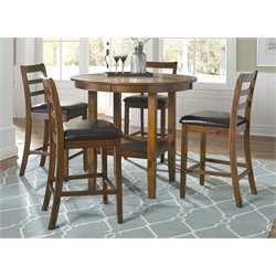 Liberty Furniture Tucson II 5 Piece Pub Set in Oak