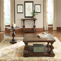 Liberty Furniture Sedona 3 Piece Coffee Table Set in Kona Brown