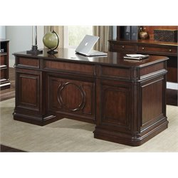 Liberty Furniture Brayton Manor Executive Desk in Cognac