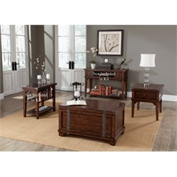 Liberty Furniture Aspen Skies 3 Piece Coffee Table Set in Russet Brown