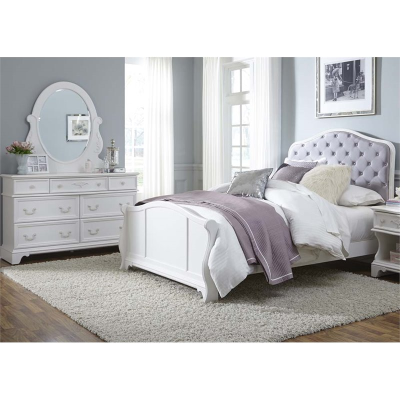 Liberty Furniture Arielle 3 Piece Upholstered Full Panel Bedroom Set
