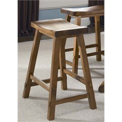 Creations II Sawhorse Bar Stool in Tobacco