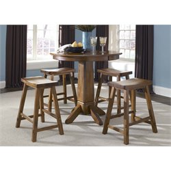 Liberty Furniture Creations II 5 Piece Pub Set in Tobacco