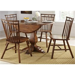 Liberty Furniture Creations II Drop Leaf Pedestal Dining Table