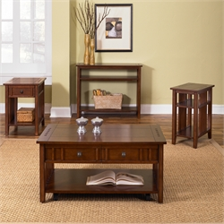 Liberty Furniture Prairie Hills 3 Piece Coffee Table Set in Cherry