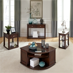 Liberty Furniture Wallace 3 Piece Coffee Table Set in Dark Toffee