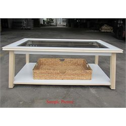 Liberty Furniture Summerhill Glass Top Coffee Table in Linen