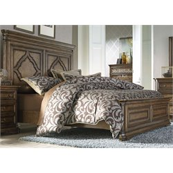 Amelia Panel Bed in Antique Toffee