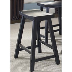 Creations II Sawhorse Bar Stool in Black