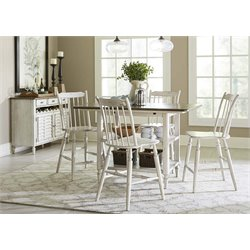 Liberty Furniture Oak Hill 5 Piece Counter Height Dining Set in White