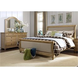 Harbor View 3 Piece Sleigh Bedroom Set in Sand DM