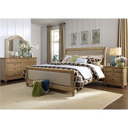 Harbor View 4 Piece Sleigh Bedroom Set in Sand DMN