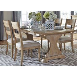 Harbor View Trestle Dining Set in Sand (A)