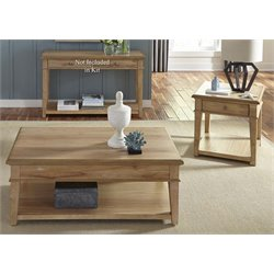 Liberty Furniture Harbor View 3 Piece Coffee Table Set in Sand
